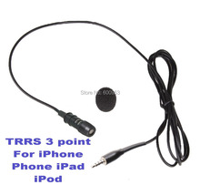 High Quality Lavalier Lapel Omnidirectional Microphone FOR iPhone iPad iPod Touch Samsung Android