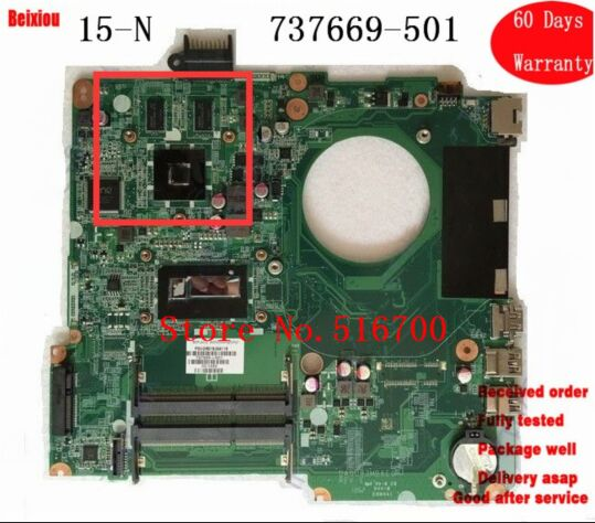 For HP Pavilion15-N Laptop Motherboard 737669-501 8670M 1GB i5-4200U Tested OK