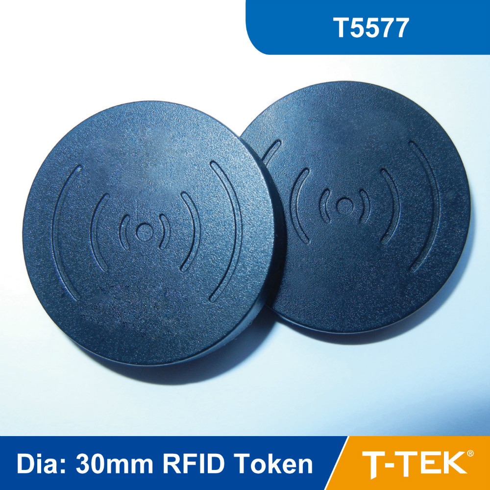 Dia: 30mm ABS RFID Token Tag, RFID Disc Tag for asset Management T5577 Chip free shipping<br><br>Aliexpress