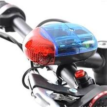 2016 New Arrival Bicycle Tones 6 LED Light Alarm Bike Lightweight Electronic Siren Bell Electric Horn