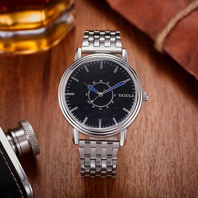 00305 yazole brand steel belt fashion watches mens watch quartz watch waterproof leisure business fashion mens watch<br>