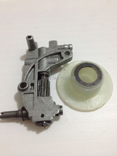 4500/5200/5800 Chainsaw spare parts oil pump with oiler worm drive gear for chain saw 45CC/52CC/58CC
