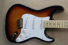 free shipping new Top quality stratocaster Guitar In vintage SUNSET Sunburst Natural wood GoldEN hardware electric guitar