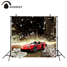 Allenjoy background photography car glitter city building casino backdrops photo printer photocall fantasy props
