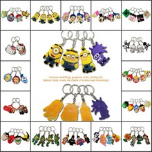 2-5PCS Minions Avengers Toy Story Princess Cartoon PVC Charms For Keychains Keyrings Necklace Cellphone Bags Accessories Gifts
