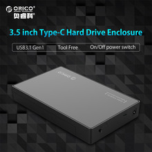 "ORICO 3.5"" HDD Caddy Case USB 3.1 Gen 1 Type C to SATA External HDD Case Up to 8TB Support UASP Tool Free for SATA HDD/SSD(China)"