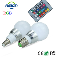 LED RGB Bulb AC85-265V 3W Spot Light E27 E14 Dimmable Magic Holiday Lighting Lamp 16 Colors Changeable IR Remote Control - Shop1361297 Store store