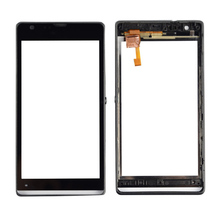 "For Sony Xperia SP M35h C5302 C5303 C5306 4.6"" Front Outter Digitizer Touch Screen Glass Lens Sensor With Frame Housing Bezel"