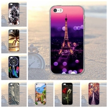 for Apple iPhone 5 5S SE iPhone5 Animal Scenery City Pattern Rubber TPU Soft Cover For Mobile Phone Protective Case For Apple