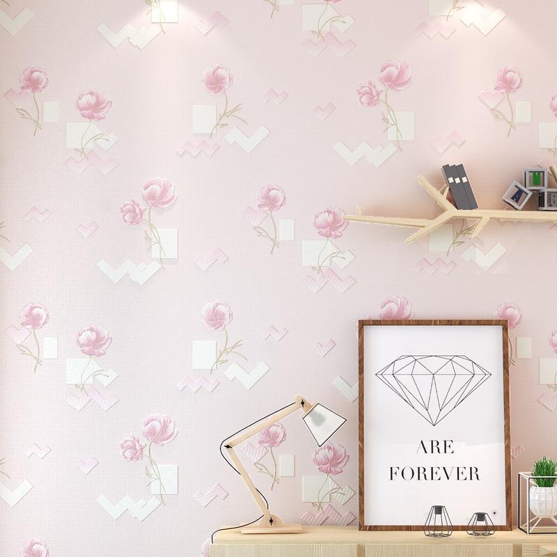 beibehang 3d pastoral flowers wallpaper nonwovens wallpaper bedroom living room TV wall papel de parede wallpaper for walls 3 d<br>