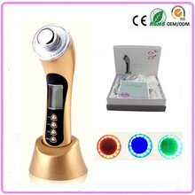 3MHZ Ultra Sound Sonic Vibration Galvanic Ultrasonic Ion Photon Rejuvenation Anti Wrinkle Aging Facial Beauty Massager Machine