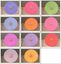 (100 pieces/lot) New 11 colors available Diameter 30 inches Long straight Chinese blank bamboo umbrellas Fancy wedding parasols(China)
