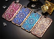 Diamond Bling Colorful Case for iPhone 7 6 6s Plus Sun Flower Soft TPU Back Cover Sheath for iPhone 5s SE for iPhone 7 Plus 6 Pl