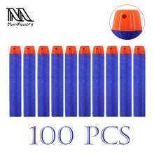 100PCs Soft Hollow Hole Head 7.2cm Refill Darts Toy Gun Bullets for Nerf Series Blasters Xmas Kid Children Gift(China)