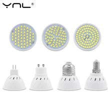 YNL Lampara LED Lamp E27 E14 MR16 GU10 220V 48LED 60LED 80LED SMD 2835 Bombillas LED Bulb Spotlight Lampada Led Spot light