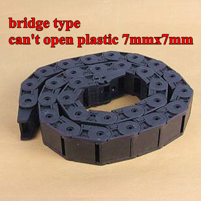 """Cable drag chain wire carrier R18 1pcs 7*7mm 1000mm 40/"""""""