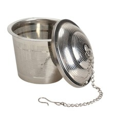 Durable Silver Reusable Stainless Mesh Herbal Ball Tea Spice Strainer Teakettle Locking Tea Filter Infuser Spice