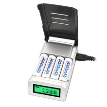 EDAL C905 LCD Quick Charger with Discharge Function for AA AAA Ni-MH Ni-CD Rechargeable Batteries