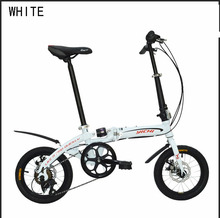 14 inch folding bike mountain bike Gear shift folding bicycle MTB high carbon steel frame disc brake suitable 160-185cm