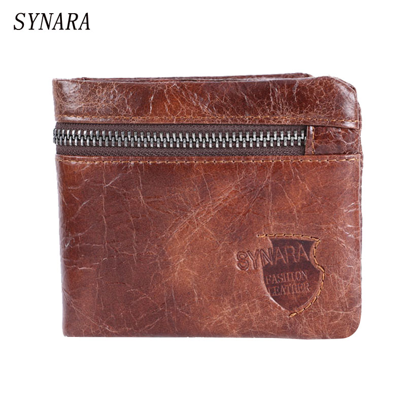 Mens Brown Coffee Real Genuine Cowhide Leather Bifold Clutch Wallets and Purses Male ID Credit Cards Holder Dollars Price Coin<br><br>Aliexpress