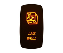 Marine Grade Waterproof IP66 LIVE WELL Rocker Switch AMBER Led lamp 5 Pin ON/OFF SPST DC12V 24V(China)