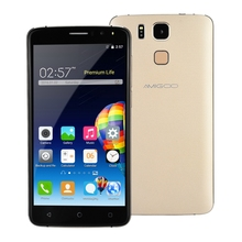 Original AMIGOO X10 Android 5.1 Smartphone 6.0 inch 3G Phablet MTK6580 1.3GHz Quad Core 8GB ROM Dual Cameras GPS Mobile Phone