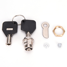 Newest 1PCS Cam Lock For Security Door Cabinet Mailbox Drawer Cupboard Locker With 2 Keys Security Furniture Locks Hardware(China)