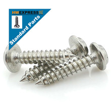 HWEXPRESS 304 Stainless Steel Head Tapping Screws With Pad M3*6