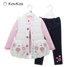 Kavkas Girls Clothes Roupas Infantis Menino Autumn Clothing Sets For Girls Children Girl Winter Clothes Ropa Mujer(China)