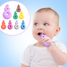 New design Food Grade Silicone Baby Teether Colorful Funny shape Pacifier teething care for Baby Dental Care Supplies 8 Colors