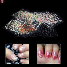 30 Sheets Mixed Design Nail Art Manicure Tips Polish Stickers Decals Decoration Nail Art Tool Nail Tips Transfer Foil