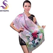 2014 Fashion Autumn And Winter Women's Silk Scarf Printed New Design Long Silk Scarf Shawl Mulberry Silk Scarf wjc15(China)