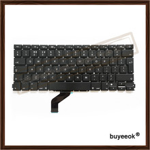Original New A1425 UK Keyboard For Apple Macbook Retina A1425 UK Keyboard Without Backlight Replacement  Keyboards 2012