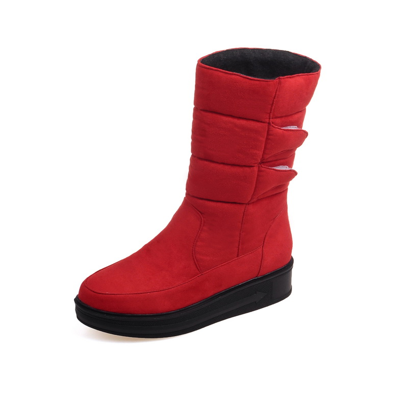 In the winter of 2016. Sweet fashion slope with thick soled boots in tube solid warm woman<br><br>Aliexpress