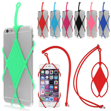 Universal Silicone Case Cover Holder Sling Wrist Strap Lanyard for Cell Phone