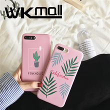 Instagram plastic Plants Cactus Banana Leaves green Case for iPhone 7 case Soft  Plants Cactus Case for iPhone 7 6s 6 plus Funda