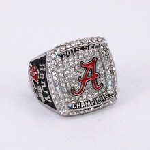 Size 6 To 15! 2016 New Arrival NCAA 2015 Alabama Crimson Tide Football National Championship Ring Replica Henry Drop Shipping(China)