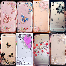 3D Handmade Soft Diamond Unique mobile Phone Cases For Galaxy J1 2016 /J120/Express 3/AMP 2,Cute Bling Crystal Rhinestone Cover(China)