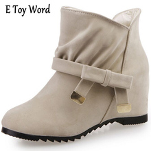 E TOY WORD Autumn New Arrivals Little Bow Tie Women Shoes Skidproof Rubber Sole Women Boots Fashion Snow Boots zapatos mujer