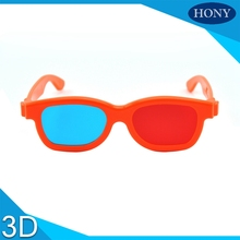 1pcs Cheap Kids Universal 3D Glasses Children Red Blue Cyan Plastic Frame Movie TV/Computer Game DVD(China)