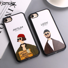 JAMULAR Movie Leon Mathilda Mirror Surface Silicon Case For iPhone X 7 Plus 5s SE Back Cover for iPhone 6s 6 8 Plus Case Fundas(China)