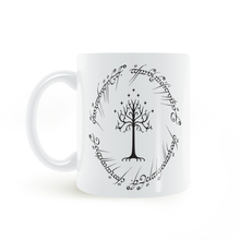 Lord of the rings inspired white tree of gondor Mug Coffee Milk Ceramic Cup Creative DIY Gifts Home Decor Mugs 11oz C230(China)