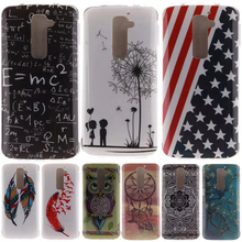 Fashion Dandelion owl lovers Pattern Silicone Soft TPU IMD Crafts Cell Phone Back Cover Case for LG G2/LG Optimus G2 D802 D805(China)