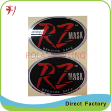 Customized       Large printing custom logo clear epoxy stickers, dome labels