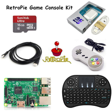 Raspberry Pi 3 Retropie Game Console Kit Raspberry Pi 3 Model B+16GB SD Card+HDMI Cable+Keyboard+Game pad+5V 2.5A Charger(China)