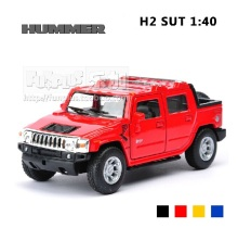 High Simulation Exquisite Model Toys KiNSMART Car Styling Hummer H2 SUT Pickup Trucks Model 1:40 Alloy Car Model Excellent Gifts
