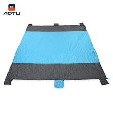 AUTO Portable Sand Free Mat Sandproof Beach Picnic Camping Mats Outdoor Foldable Picnic Mattress Beach Mat with 6 Pocket 2017