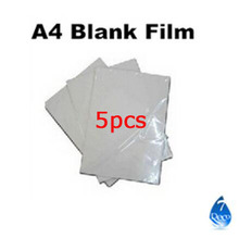 Free shipping 5pcs/lot Blank Water Transfer Printing Film for Inkjet printer,A4 size hydrographic film, decorative material