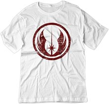 Loose Cotton T-shirts For Men Cool Tops T Shirts Men's Star Wars Jedi Order Vintage Style Logo Shirt