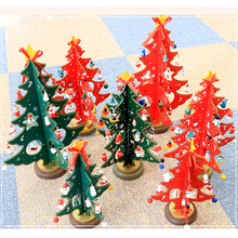 3D DIY Cartoon Wooden Christmas Tree Decoration Xmas Gift Ornament Table Desk Decoration Animal SnowflakHome Party Wedding Decor(China)